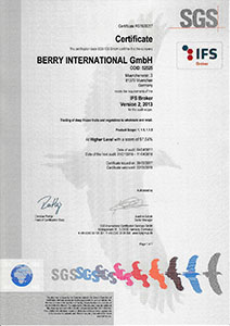 Berry International IFS Broker   2017